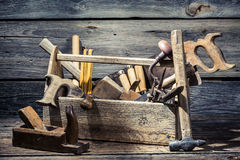 old-joinery-tool-box-wooden-table-50873715